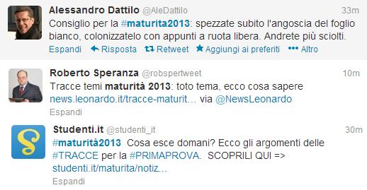 twitter maturita2013 consigli