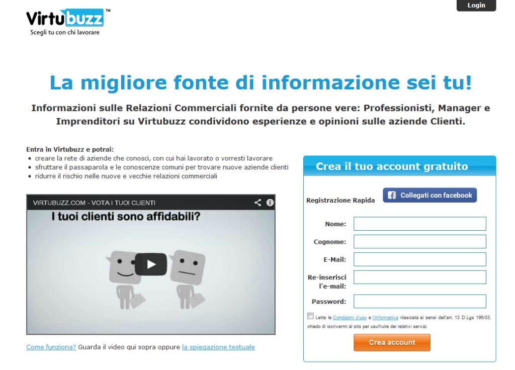 La Homepage di Virtubuzz.com