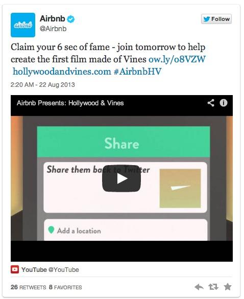 AirBnB Tweet