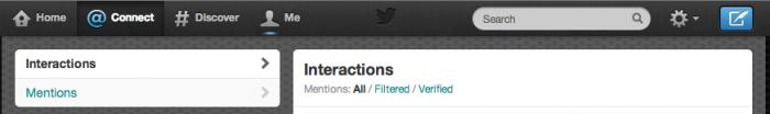 Filtri interazioni Twitter