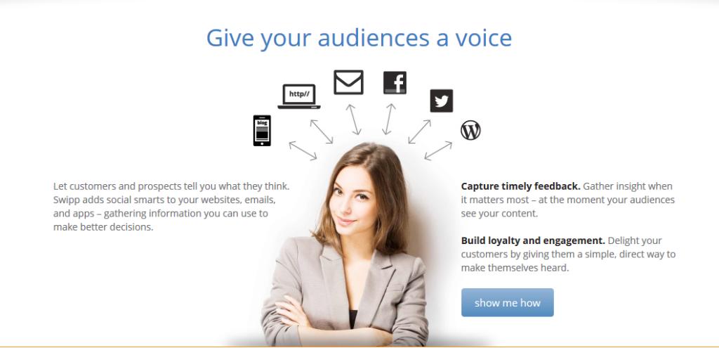 Dai voce al tuo pubblico