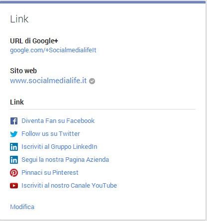 Link Pagina Google Plus - Social Media Life