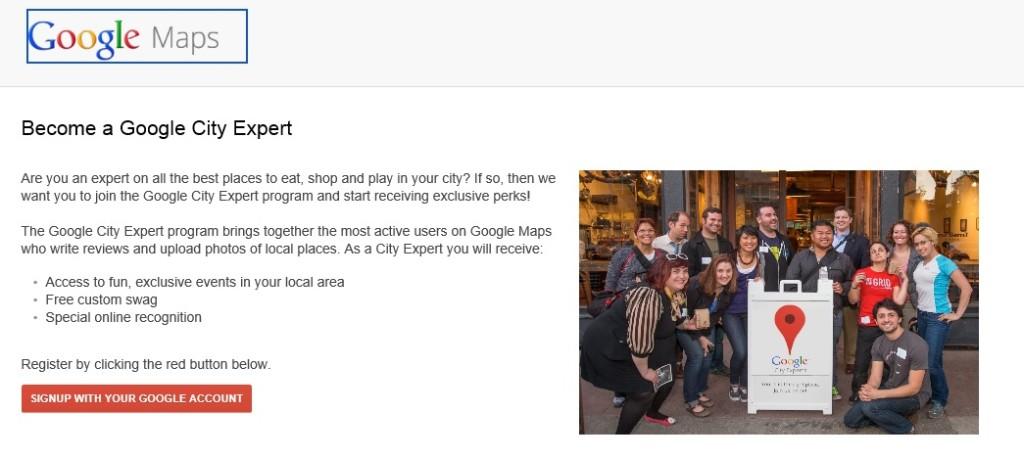 Programma Google City Expert