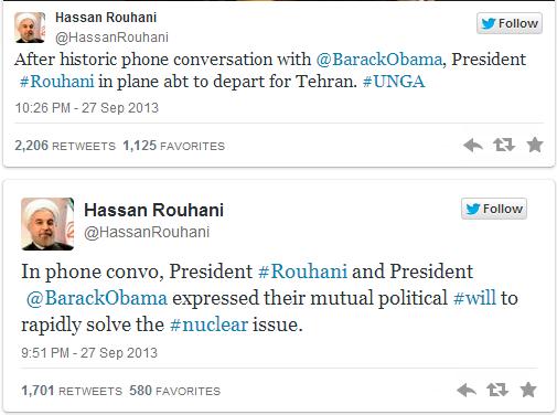 Rohani e Obama