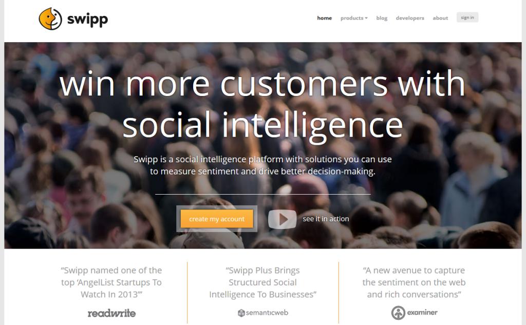 Homepage di Swipp