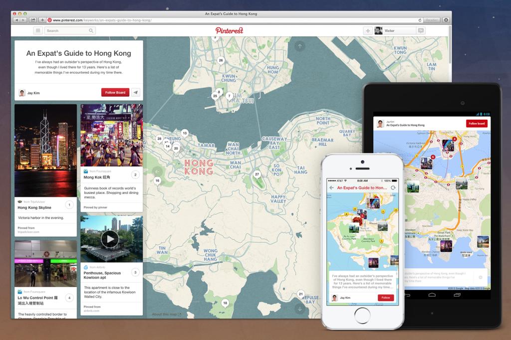 Mappa di Pinterest