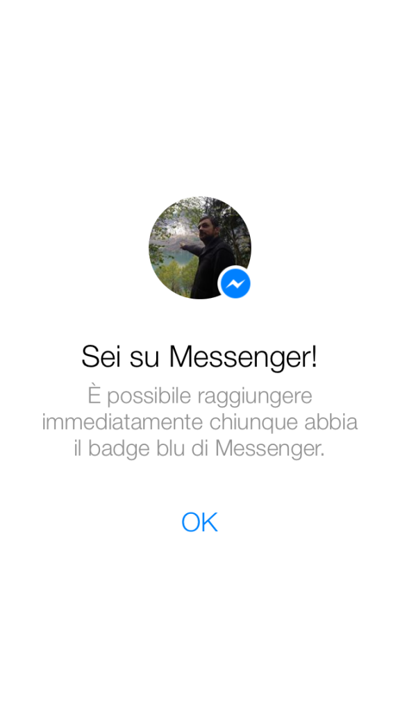 Badge Blu Utenti Facebook Messenger