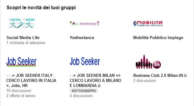 LinkedIn restyling sezione Gruppi