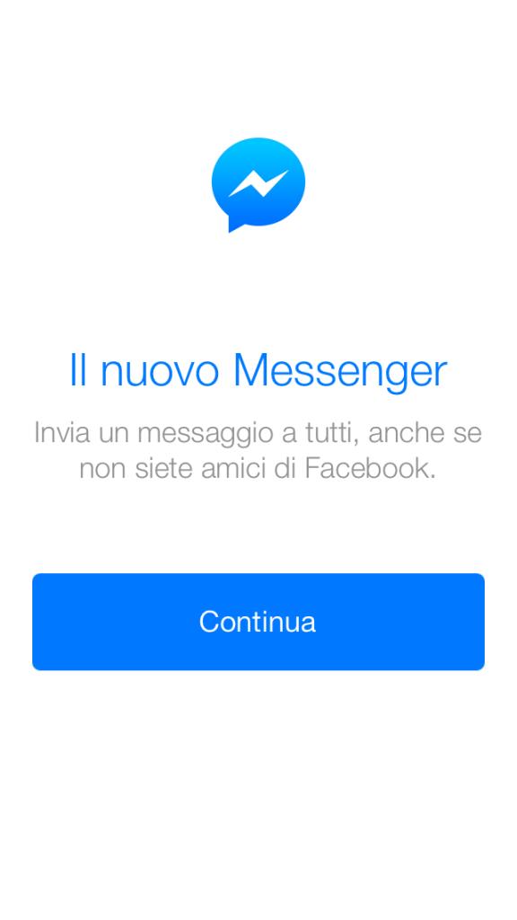Nuovo Facebook Messenger