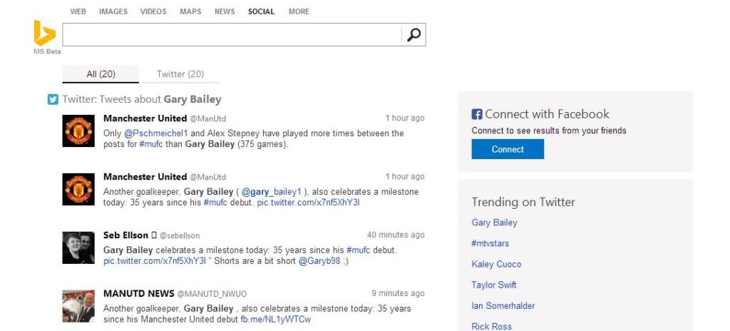 Partnership tra Bing e Twitter