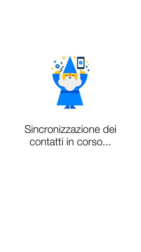 Sincronizzazione tra Facebook Messenger e smartphone