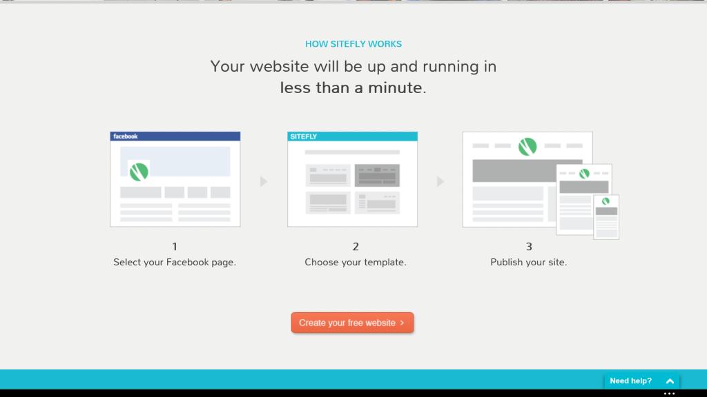 Creazione sito web con Sitefly