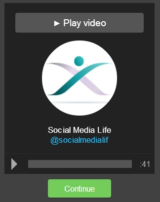 Video Tweet Report Social Media Life su Vizify