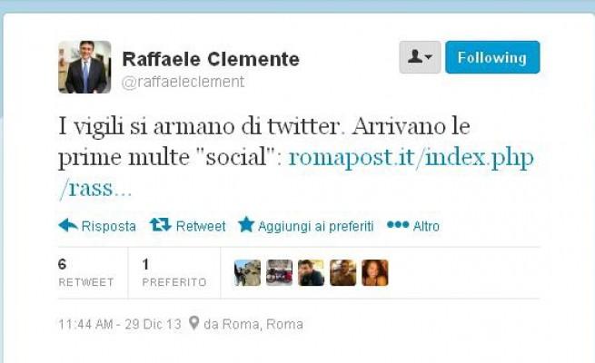 Multe via Twitter - Comandante Vigili Urbani di Roma