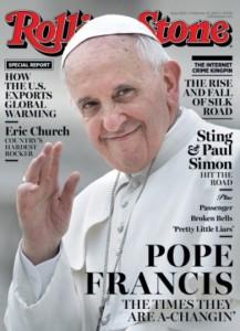 Copertina Rolling Stone con Papa Francesco