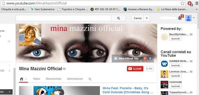 Canale YouTube Mina Mazzini Official