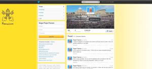 Profilo Twitter Papa Francesco