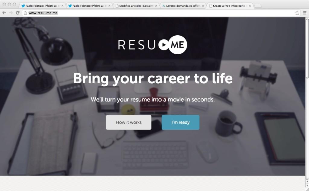 Resu-Me - Curriculum Vitae in formato Video