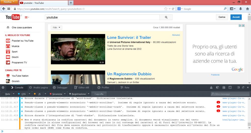 Nuova UX di YouTube su Firefox