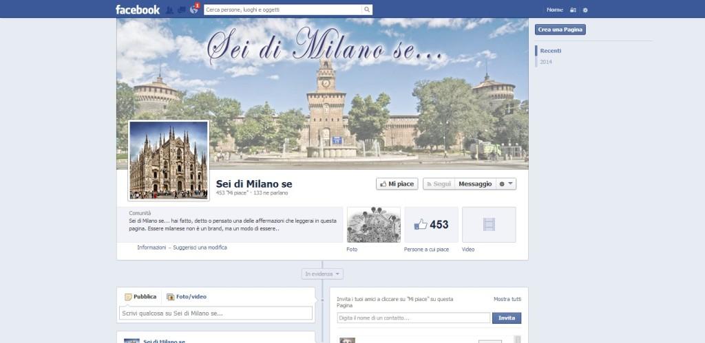 Pagina Facebook Sei di Milano se...