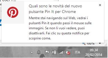 Pin It per Chrome - Novità