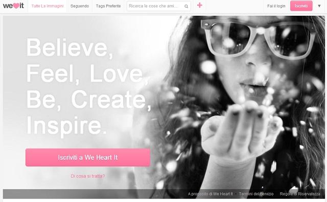 We Heart It - Il nuovo social network per immagini