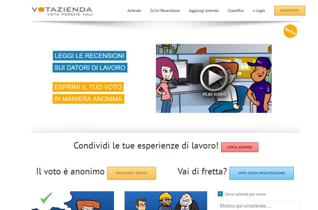 Homepage Votazienda