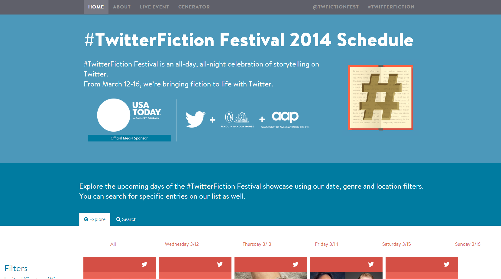Photo of #TwitterFiction Festival 2014