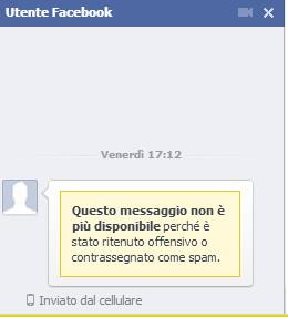 Utente Spam Eliminato su Facebook