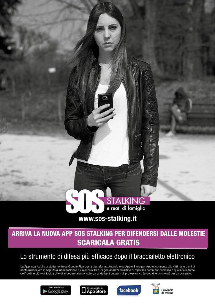 Locandina app SOS Stalking