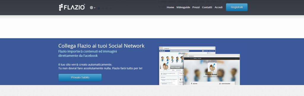 Collega Flazio ai tuoi Social Network