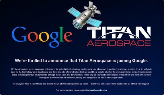 Goolge acquista Titan Aerospace