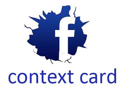 Fb context card