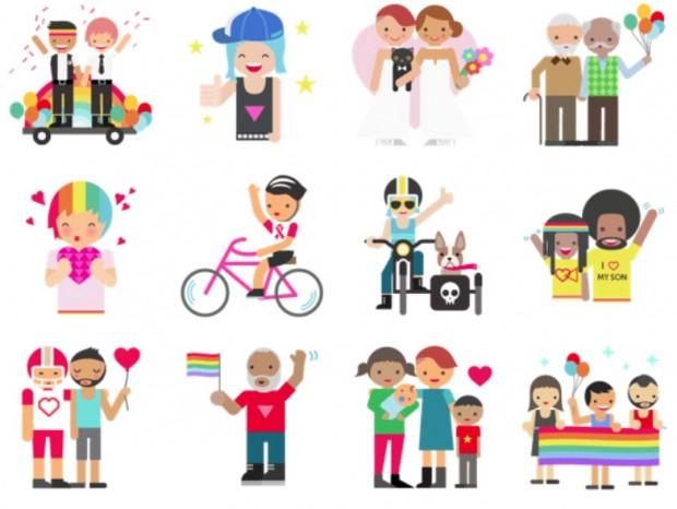 Stikers Facebook LGBT