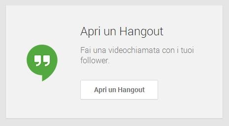 Apri un Hangout - Google My Business