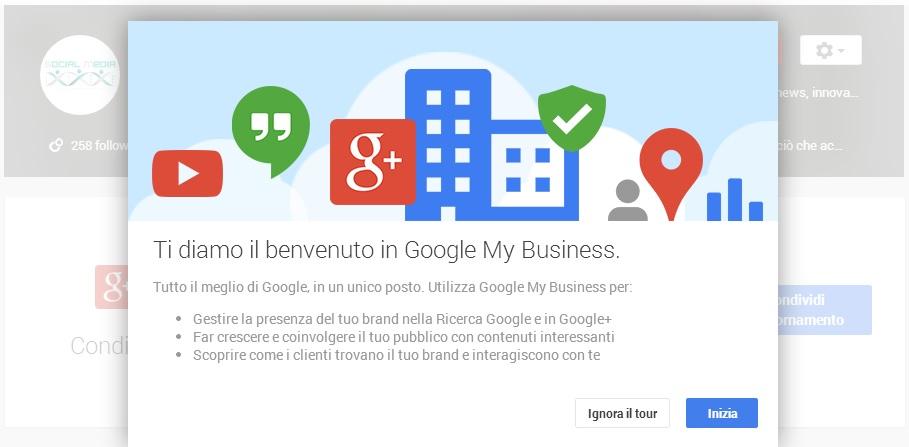 Benvenuto in Google My Business