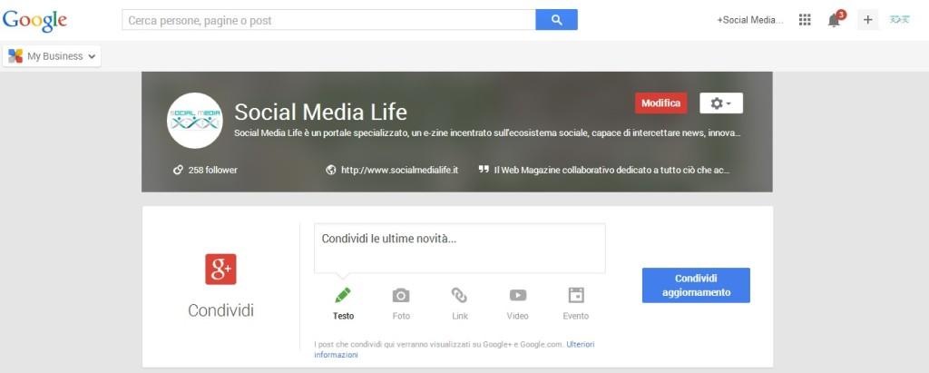 Condividi - Google My Business