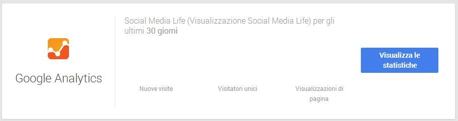 Statistiche Google Analytics - Google My Business