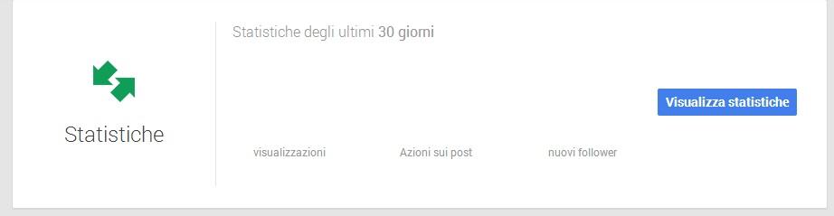 Statistiche Pagine Google Plus - Google My Business