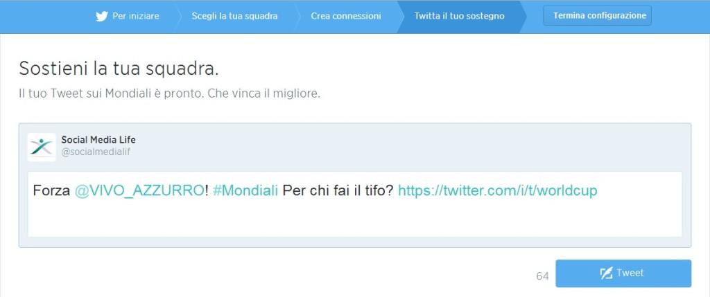 Twitta il tuo sostegno alla Nazionale Italiana