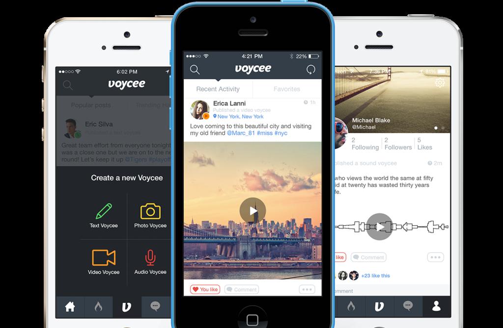Voycee app per iOS