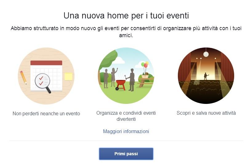 Nuova Sezione Eventi Facebook