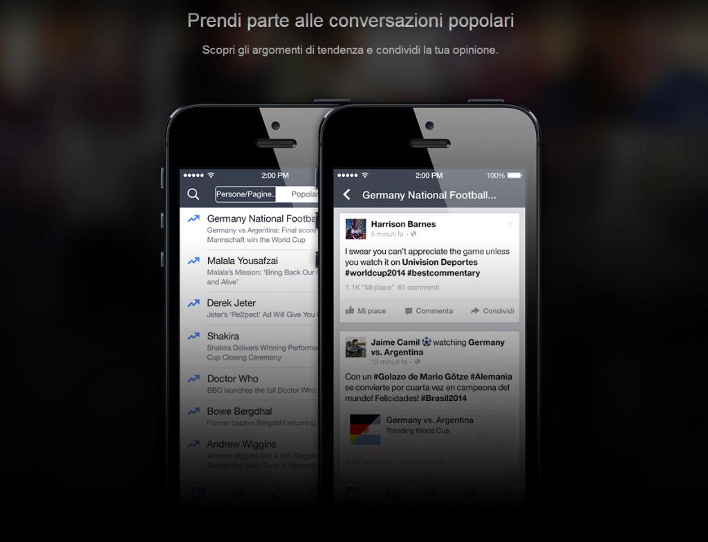 Facebook Mentions Conversazioni