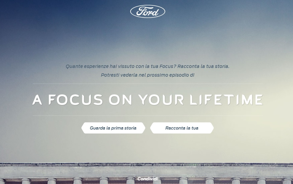 A Focus on your lifetime - Landing page