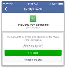 facebook ci connette con i nostri cari in pericolo