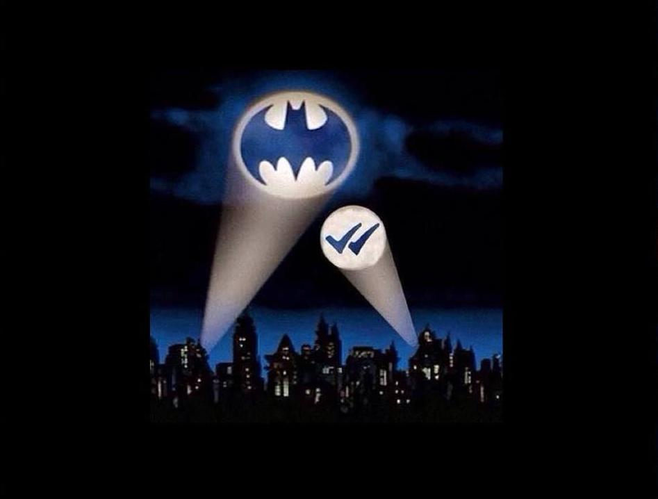Doppia spunta blu Whataspp Batman