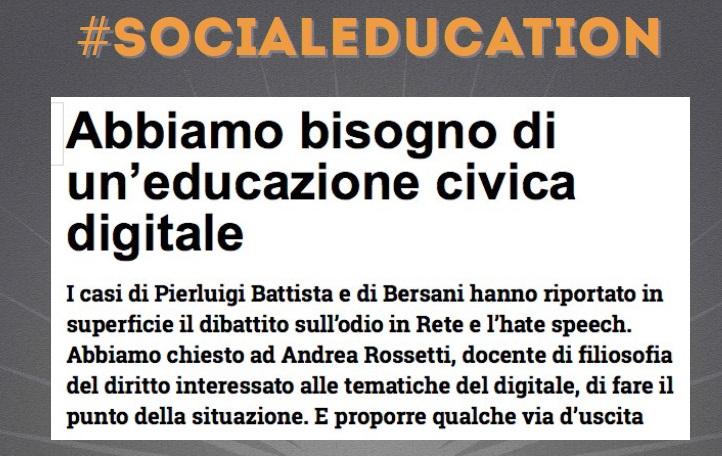 Social Education - Educazione Civica Digitale