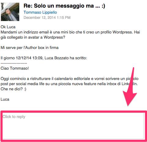 Inbox Linkedin: miglioramento