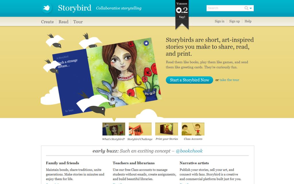 Storybird home