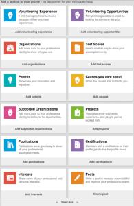 Nuovo layout LinkedIn Profilo